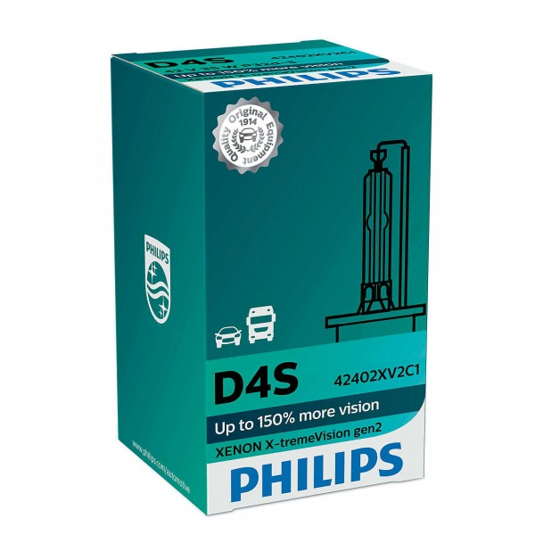 Philips Xenon X-tremeVision gen2 D4S P32D-5 35 W 42 V (1er Faltschachtel)