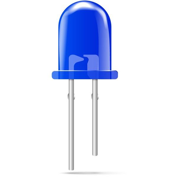 3mm LED blau