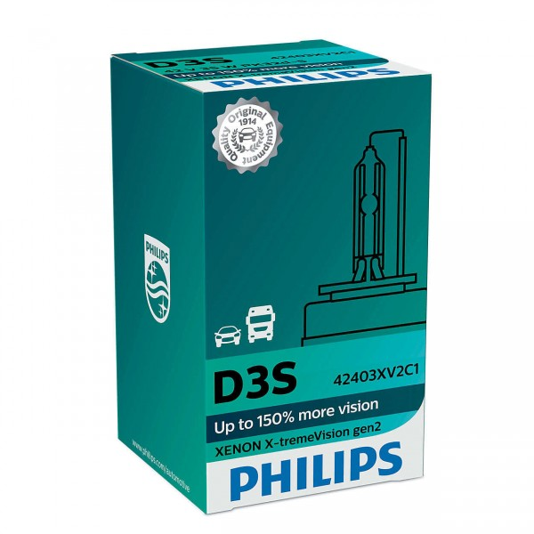 Philips Xenon X-tremeVision gen2 D3S PK32d-5 35 W 42 V (1er Faltschachtel)