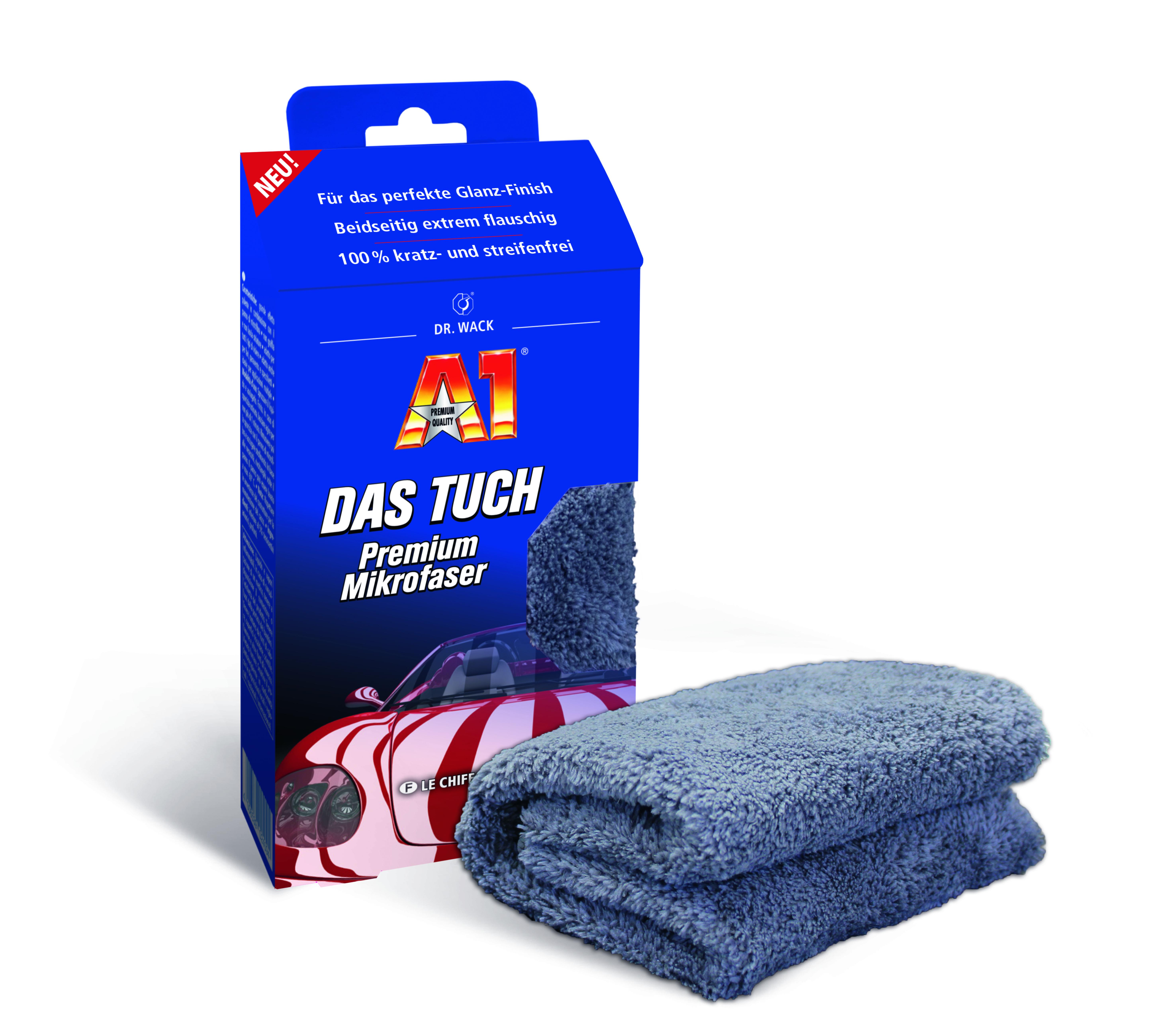 dr wack a1 das tuch premium mikrofaser 40 x 40 cm au en lack reinigung und pflege. Black Bedroom Furniture Sets. Home Design Ideas