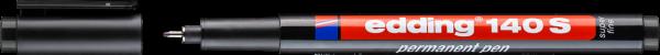 edding 140 S Permanenter Folienschreiber schwarz